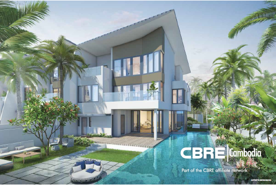 Phnom Penh | Cluster Villas for Sale, THE PALMS Luxury Living by Mekong