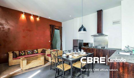 2 Bedroom Pet-Friendly Serviced Apartment in Tonle Bassac